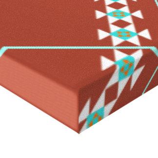Design do nativo americano impressão em canvas