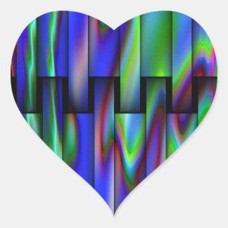 Design do olhar do vitral adesivo coração