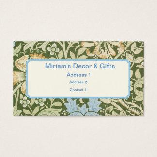 Design do papel de parede de William Morris Cartão De Visitas