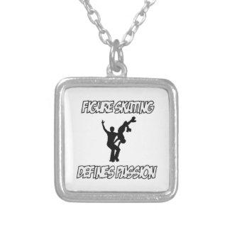 design do patinagem artística colar com pendente quadrado