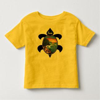 Design do por do sol/tartaruga do Na Pali de Tshirt