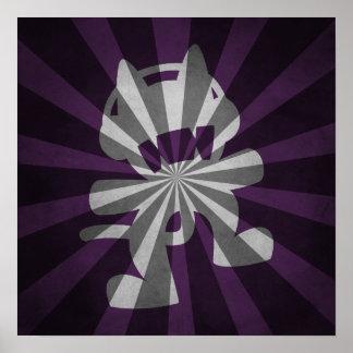 Design do poster da irrupção do gato do monstro