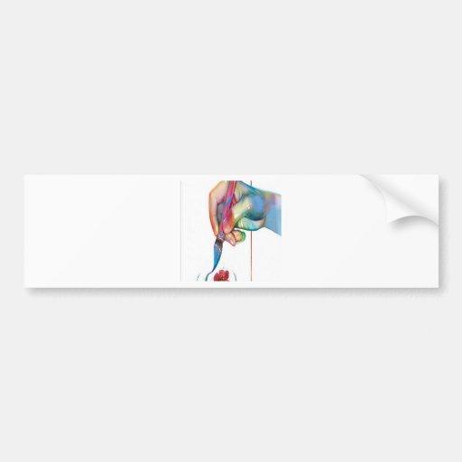 Design do prado da pintura adesivos