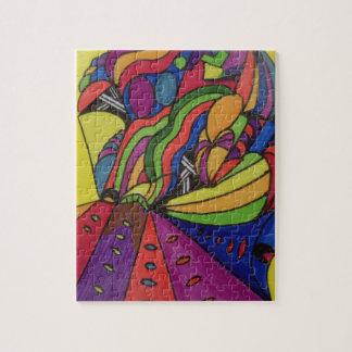 design do quebra-cabeça w/abstract da foto 8x10