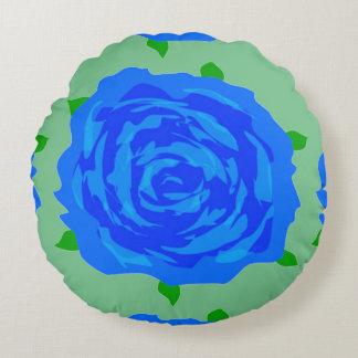 Design do rosa do azul no travesseiro decorativo almofada redonda