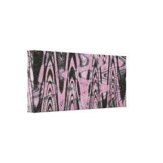 Design do rosa e do preto na lona envolvida impressão de canvas envolvida