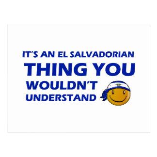 Design do smiley de El Salvador Cartão Postal