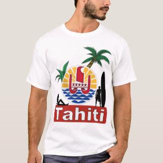 design do surf de tahiti camiseta