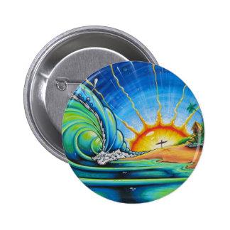 Design do surfista bóton redondo 5.08cm