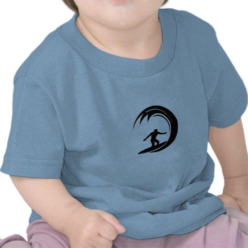 Design do surfista camisetas