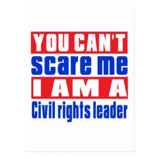Design do susto do líder dos direitos civis cartão postal