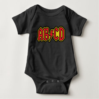 Design do t-shirt de ABCD Body Para Bebê
