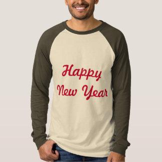 design do t-shirt do logotipo do feliz ano novo