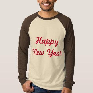 design do t-shirt do logotipo do feliz ano novo camiseta