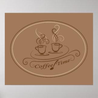 Design do tempo do café poster
