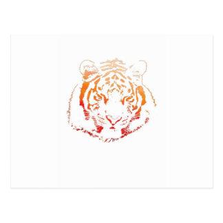 Design do tigre cartão postal