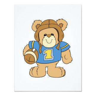 Design do urso de ursinho do futebol convite personalizado