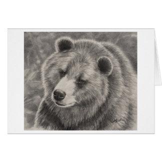 Design do urso em cartões de nota vazios