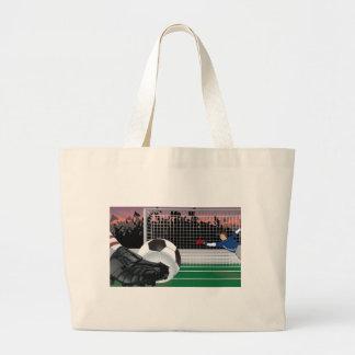 Design do vetor do futebol bolsa para compras