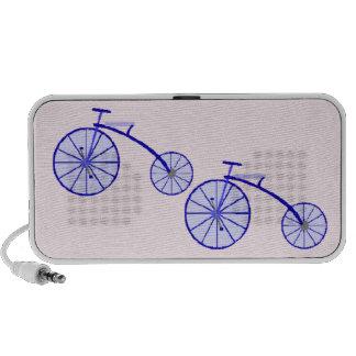 Design do vintage da bicicleta no rosa caixinha de som para mini