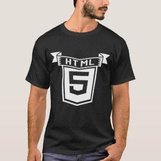 Design do vintage da camisa do HTML 5