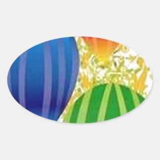 Design dos ballons de Corel Adesivo Oval