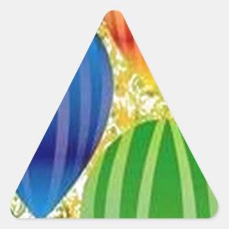 Design dos ballons de Corel Adesivo Triangular