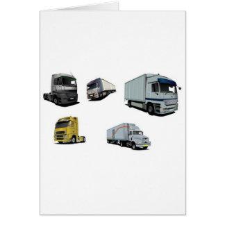 Design dos caminhões de transporte cartoes