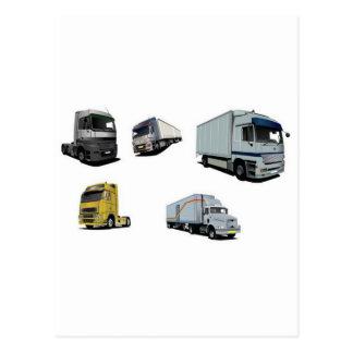 Design dos caminhões de transporte cartoes postais