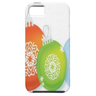Design dos enfeites de natal capa para iPhone 5