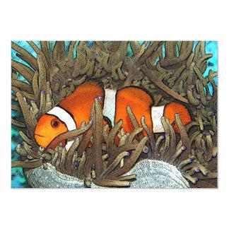 Design dos peixes do palhaço convites