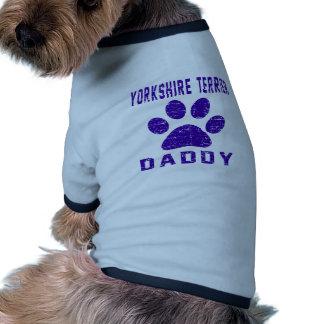 Design dos presentes do pai do yorkshire terrier camisa ringer para cachorro