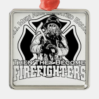 Design dos sapadores-bombeiros ornamento de metal