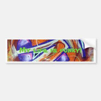 design e slogan funky dos grafites do mundo adesivo para carro