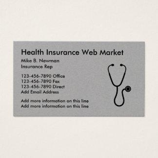 Design elegante do seguro médico cartão de visitas