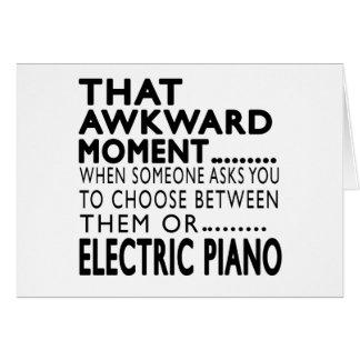 Design elétrico desse piano do momento inábil cartao