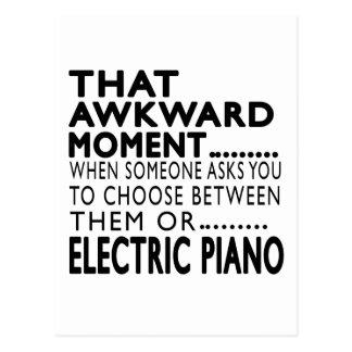 Design elétrico desse piano do momento inábil cartões postais