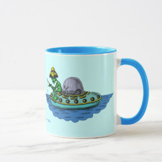 Design engraçado da caneca dos pescadores
