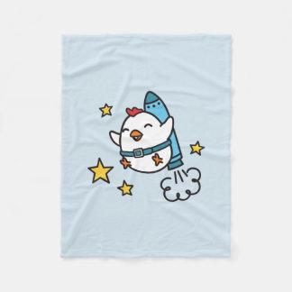 Design engraçado da galinha de Jetpack Cobertor De Velo