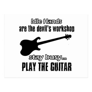 Design engraçado da guitarra elétrica cartão postal