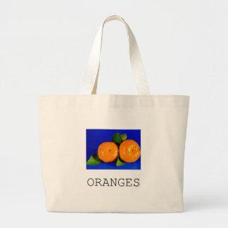 Design engraçado das laranjas sacola tote jumbo