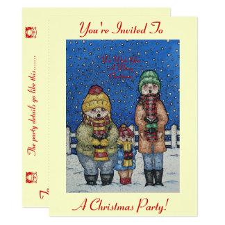 design engraçado do Natal da cena da neve dos Convite 16.51 X 22.22cm