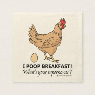 Design engraçado do pequeno almoço dos tombadilhos guardanapo de papel