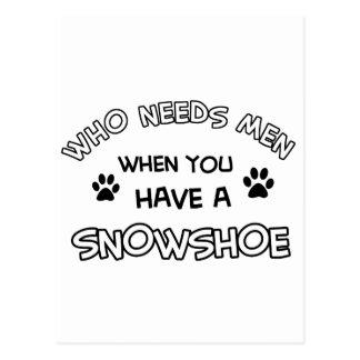 Design engraçado do sapato de neve cartoes postais