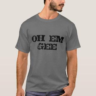 design engraçado do t-shirt da escola do em do omg camiseta