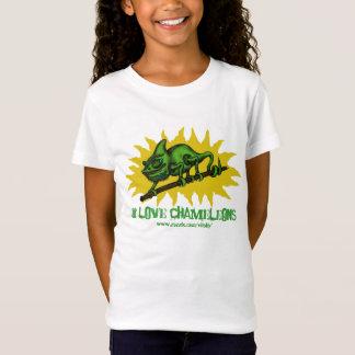 Design engraçado do t-shirt do bebê do camaleão camiseta
