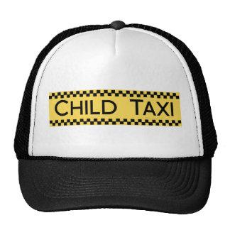 Design engraçado do táxi da criança para conduzir  bonés
