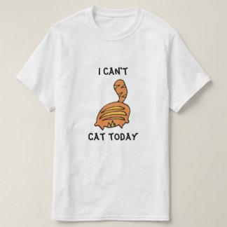 Design engraçado dos desenhos animados do gato camisetas