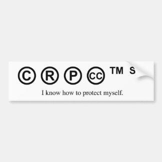 Design engraçado - eu sei proteger-se o © adesivo