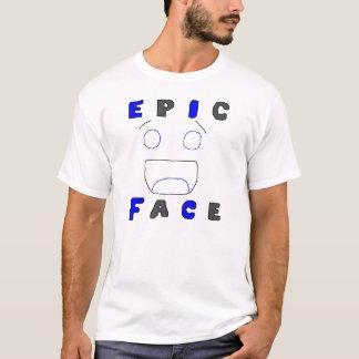 Design épico dois da cara camiseta